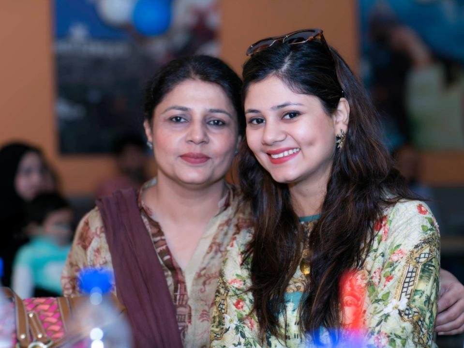 Uzma and her daughter, Aman.