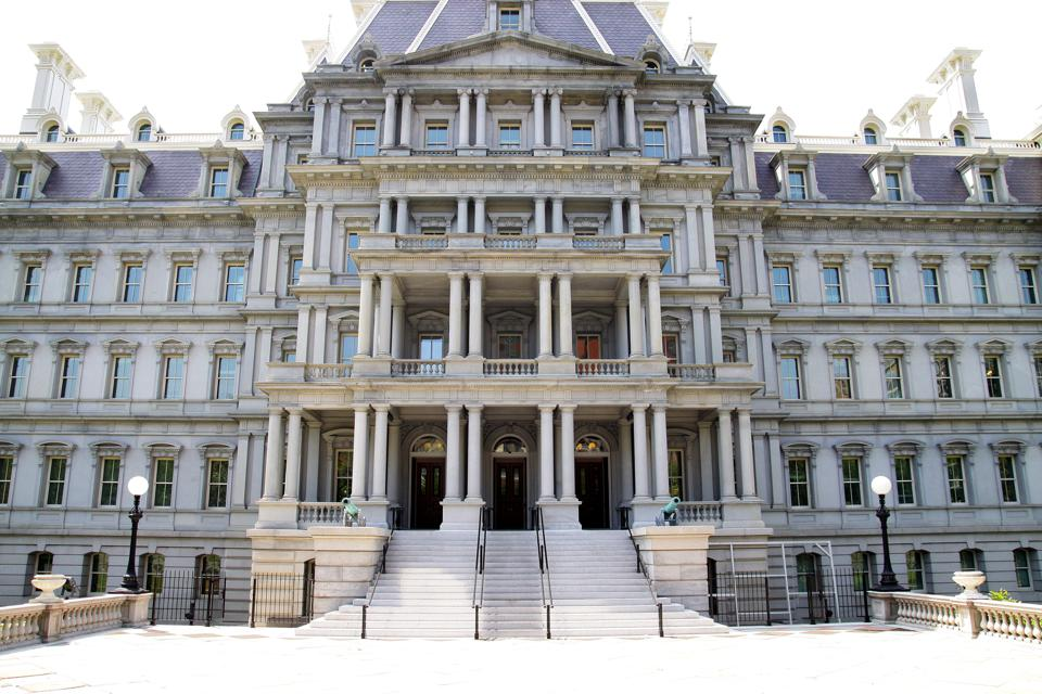 Photo of the Eisenhower Building.