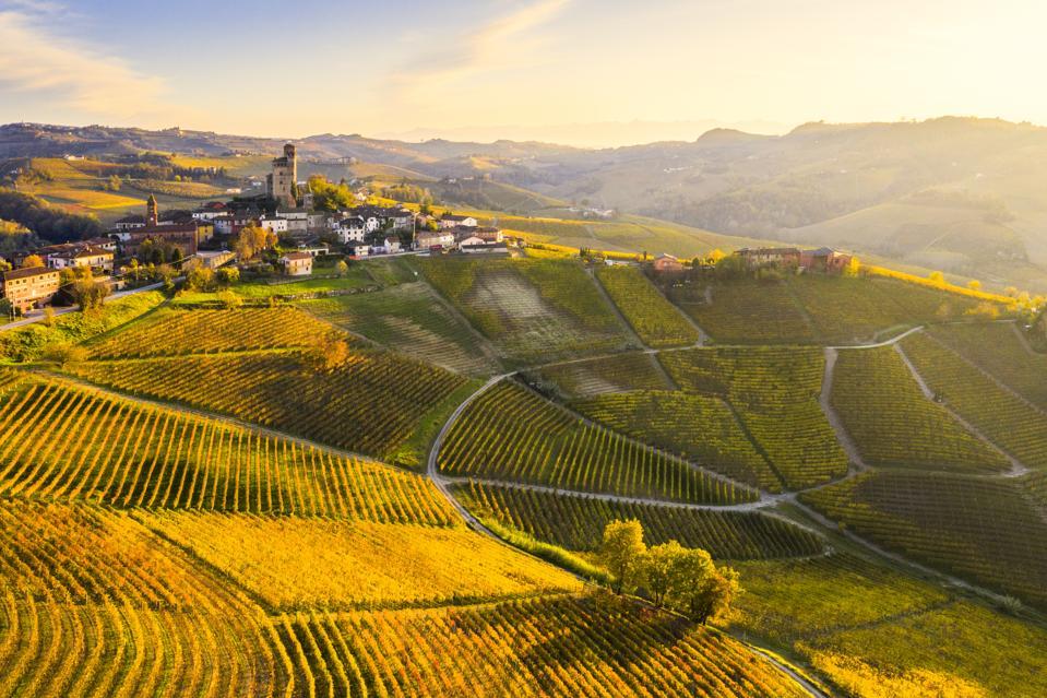 Serralunga d'Alba village, Piedmont, Italy.