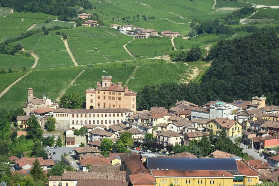 Barolo and vineyards in Piedmont, Italy