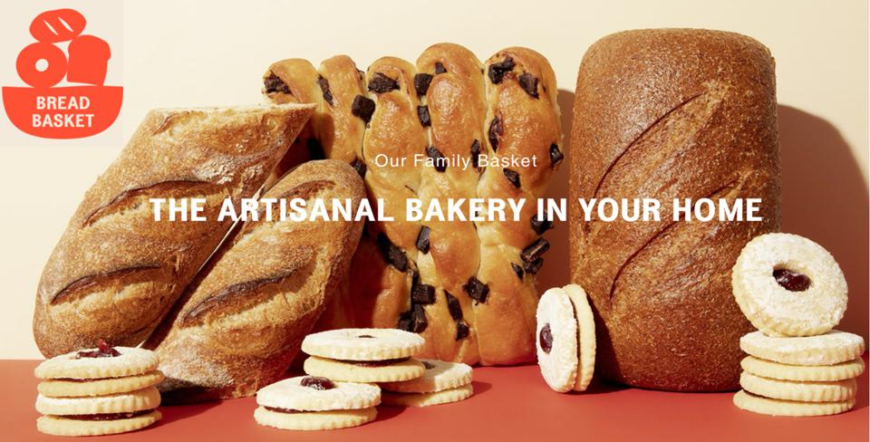 A collection of breads and linzer cookies from different New York bakeries ordered for home delivery from Bread Basket NYC