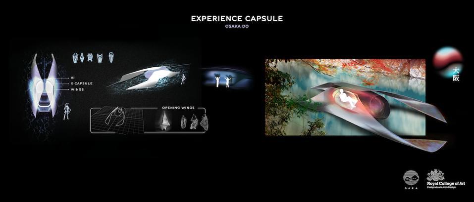 Naomi Saka's floating catamarans carry the experience capsule through the manmade islands of Osaka in 2040