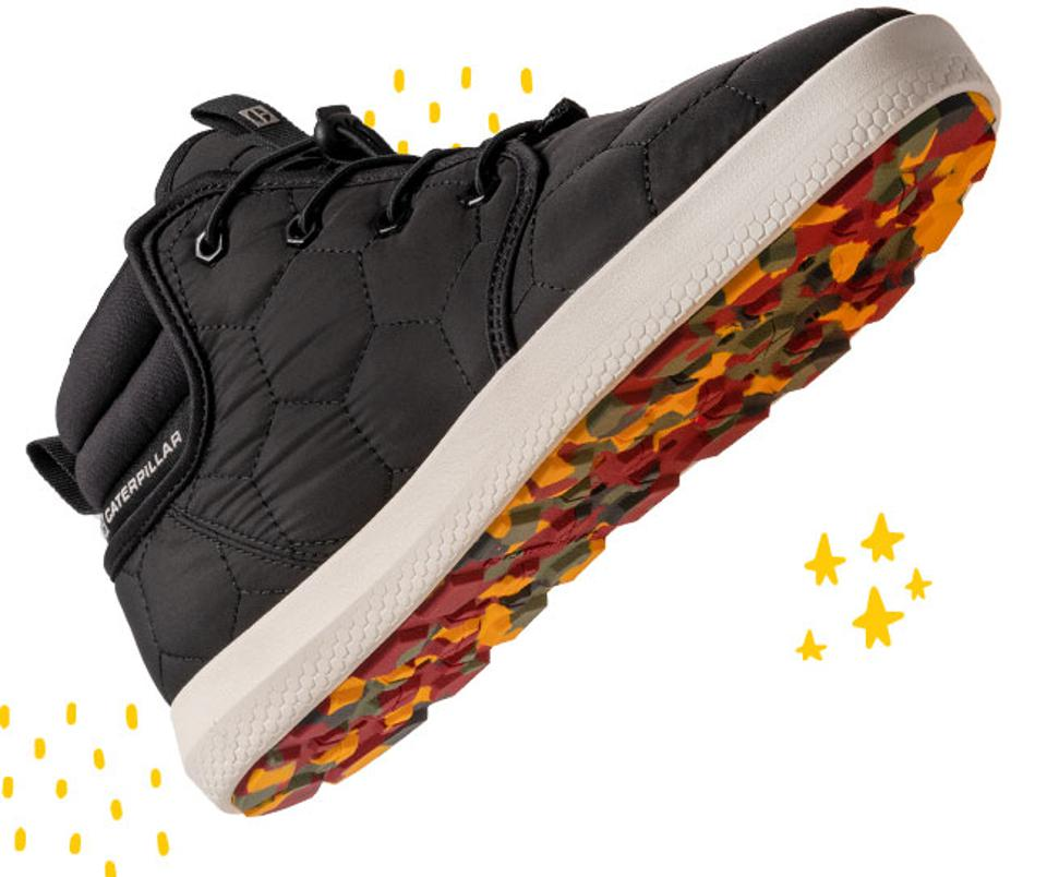 Cat Footwear: The CODE Scout Mid features quilted uppers for visible cozy cues.