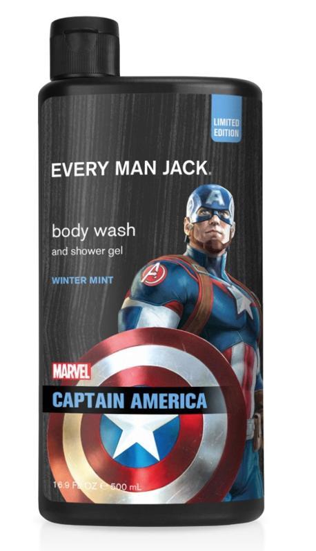 Every Man Jack Captain America Body Wash