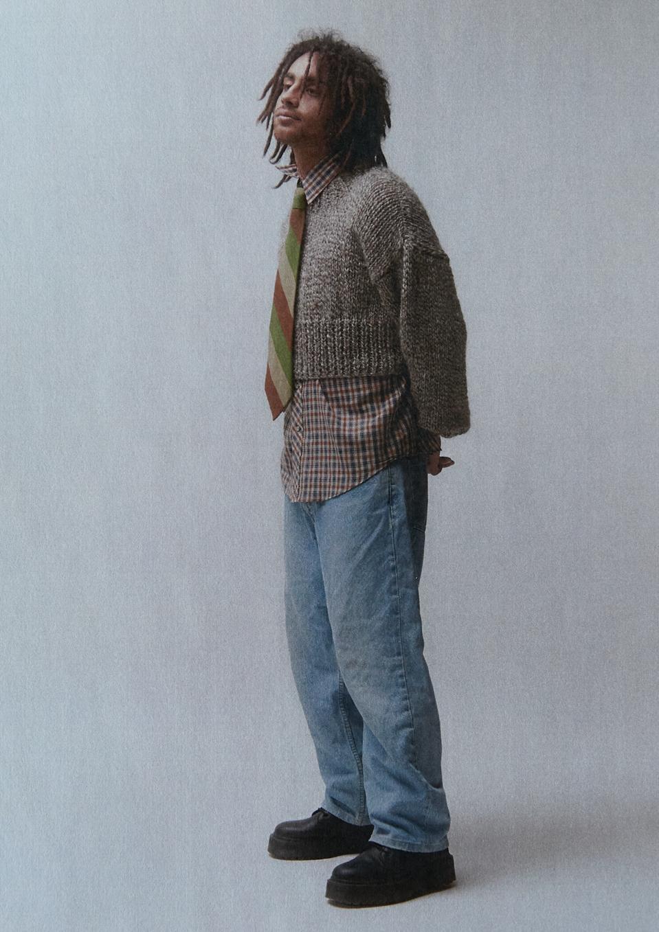 Frisson Knits: Cropped Grandad sweater