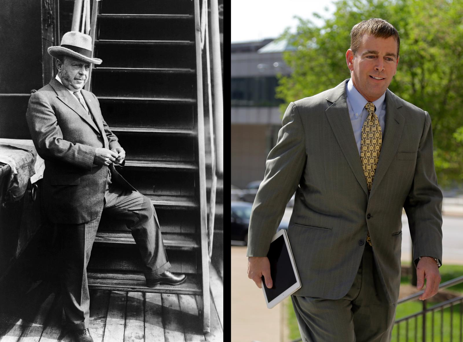 August Busch Sr. (left) and August Busch IV
