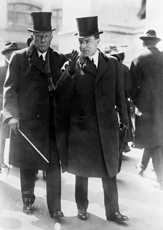 John D. Rockefeller with his son John D. Rockefeller, Jr.