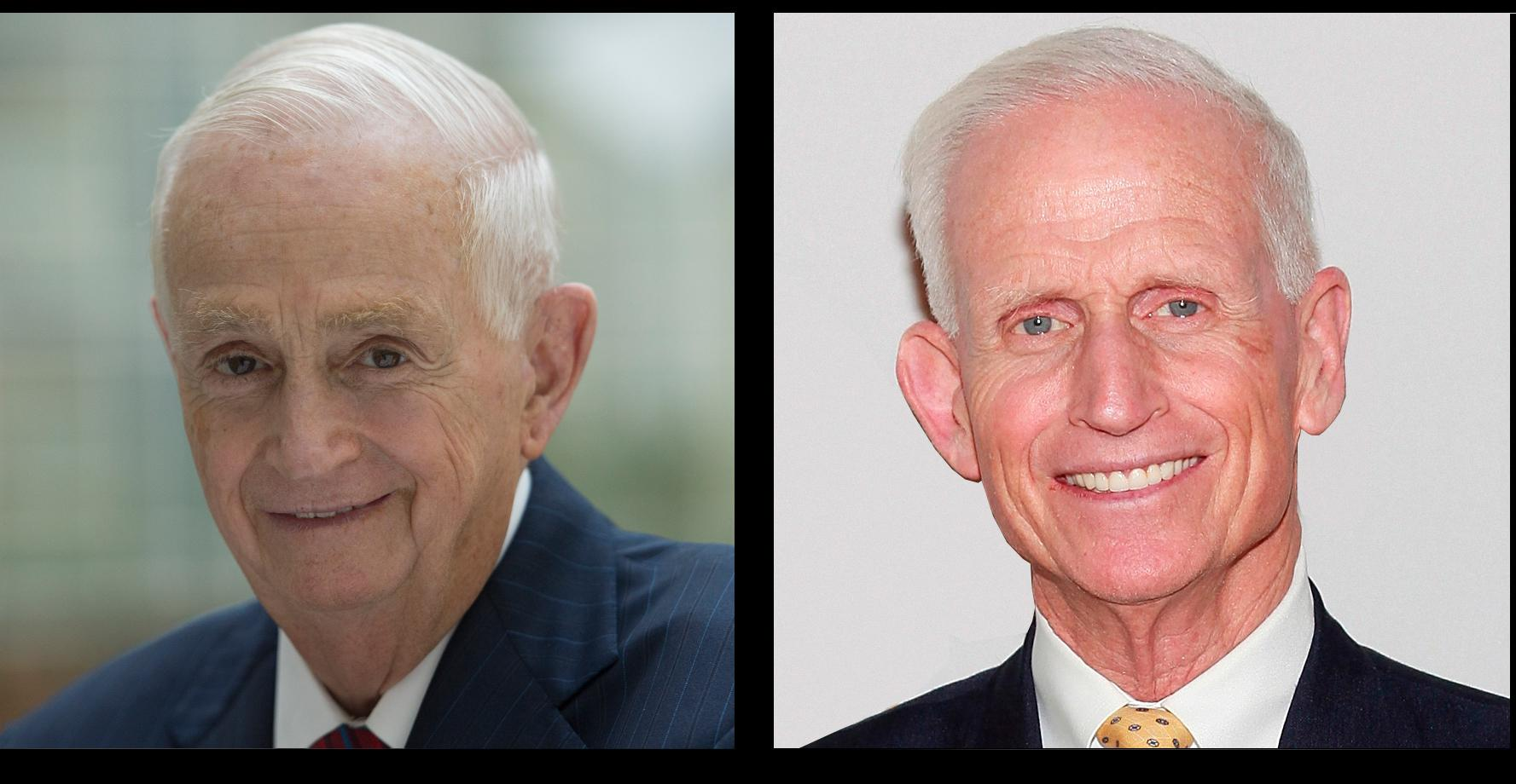 Brothers and hotel tycoons Bill (left) and Richard Marriott. Bill chairs Marriott International; Richard chairs Host Hotels & Resorts.