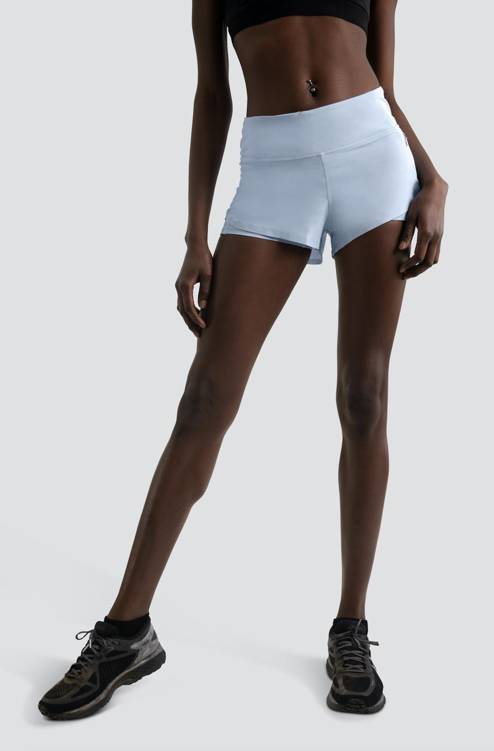 HiFlex™Running Shorts in Baby Blue by Centric