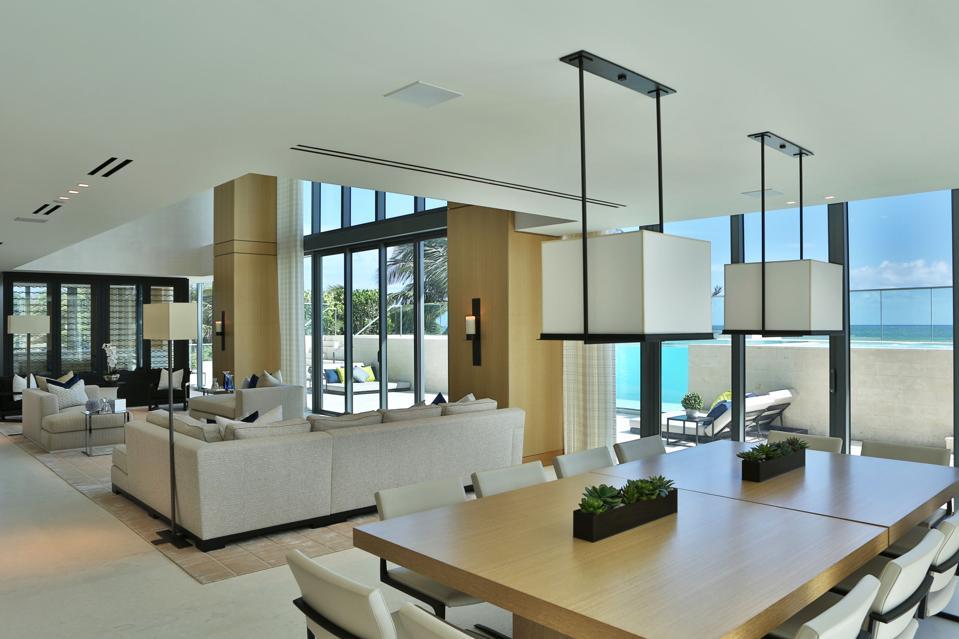An open living room.
