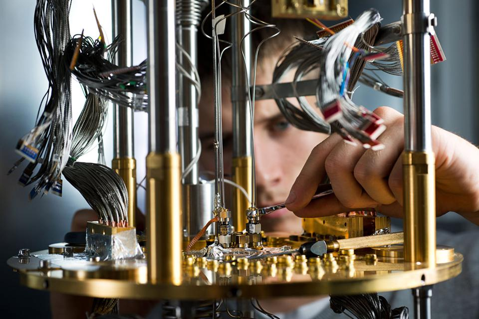 A quantum computer up close