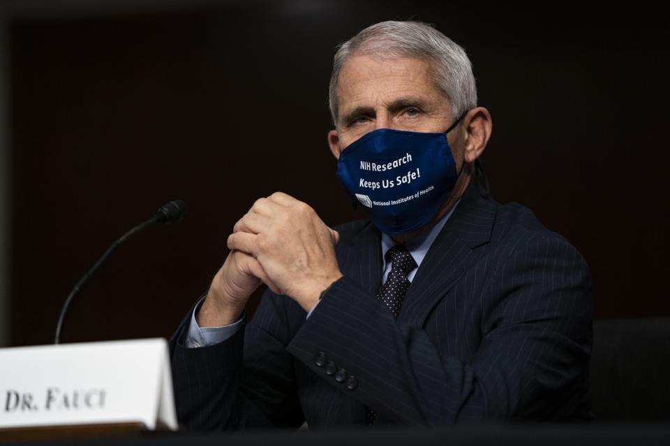 Dr Anthony Fauci in a facemask