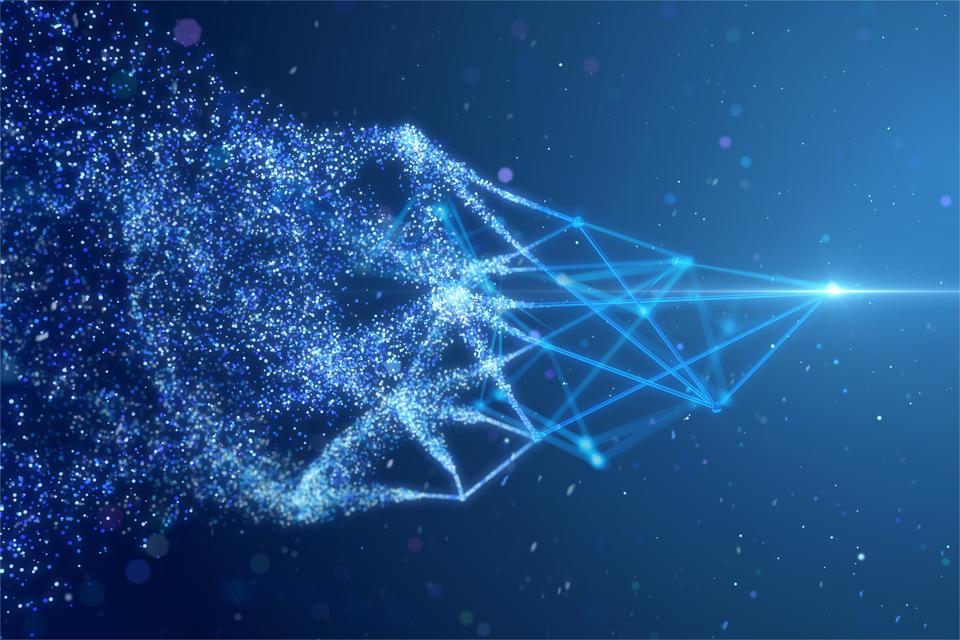 粒子およびワイヤーフレームネットワーク