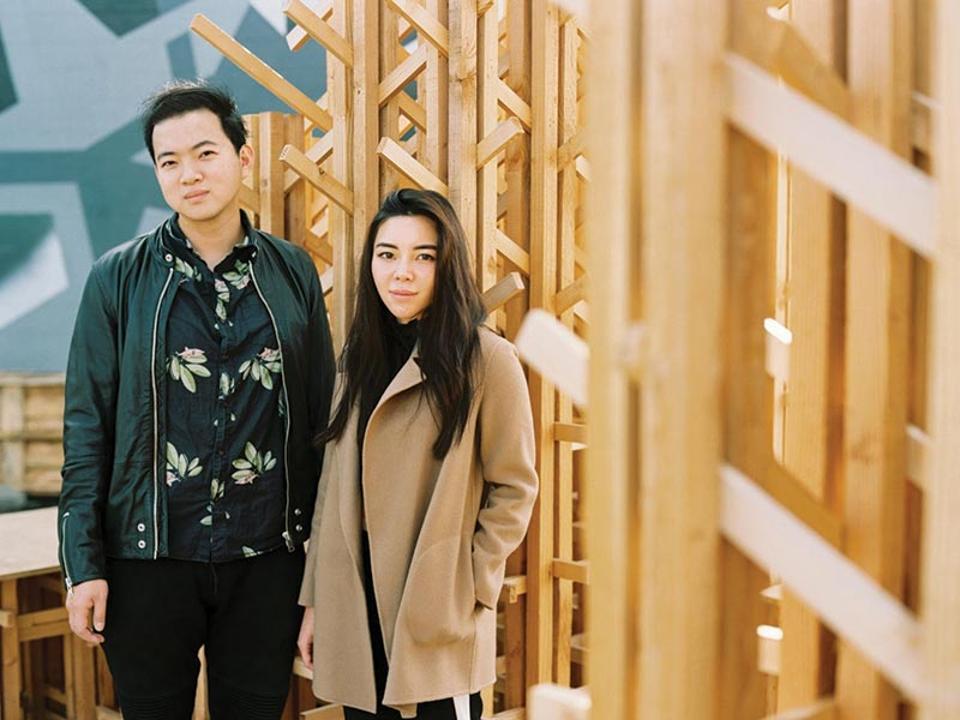 Amanda Gunawan and OWIU co-founder Joel Wong at LA Design Festival.