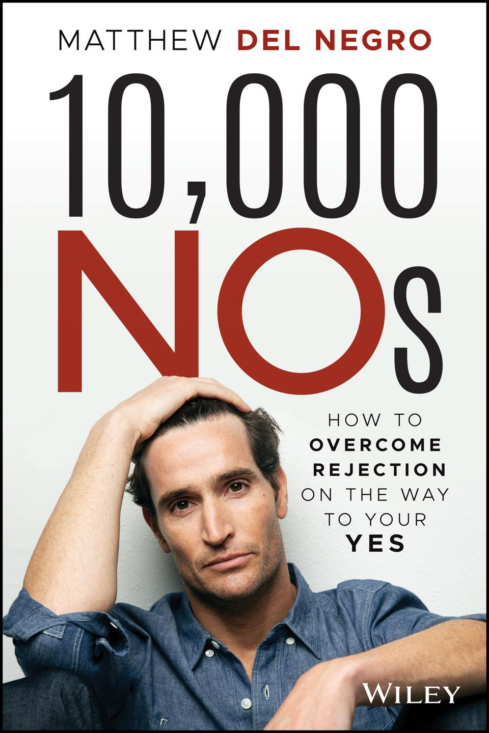 Matthew Del Negro Book Cover:  10,000 Nos: How to Overcome Rejection on the Way to Your Yes