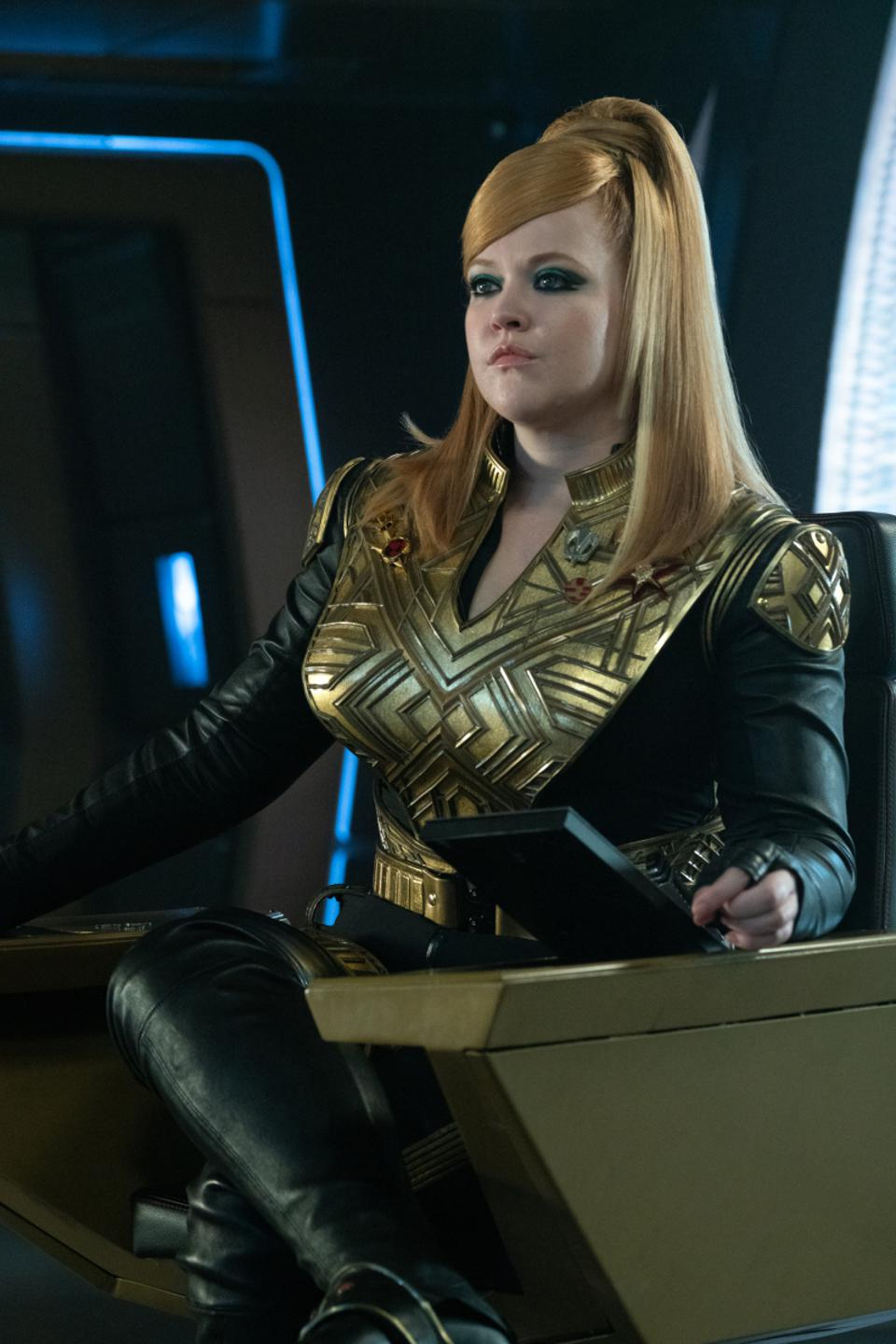 Captain Sylvia ″Killy″ Tilly commands the I.S.S. Discovery and looks great doing it.