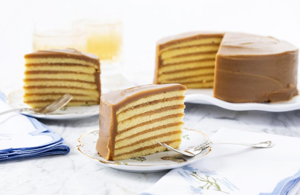 The seven layer caramel cake from South Carolina based Caroline's Cakes