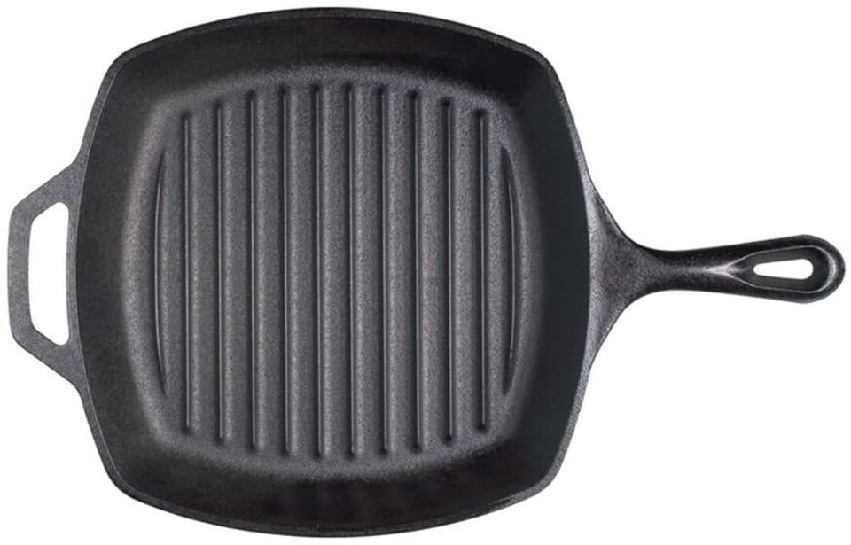 Lodge Cast Iron Grill Pan, 10.5 inch