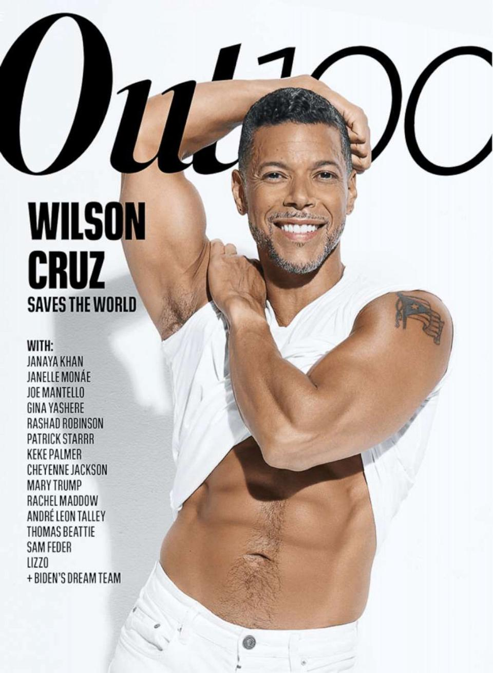 Wilson Cruz has a fantastic body and he shows it off here on the cover of Out Magazine.