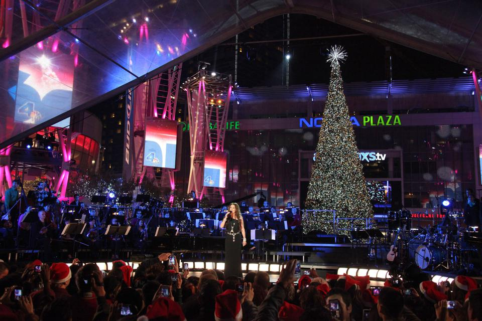 The 5th Annual Holiday Tree Lighting At L.A. LIVE & Opening Of LA Kings Holiday Ice