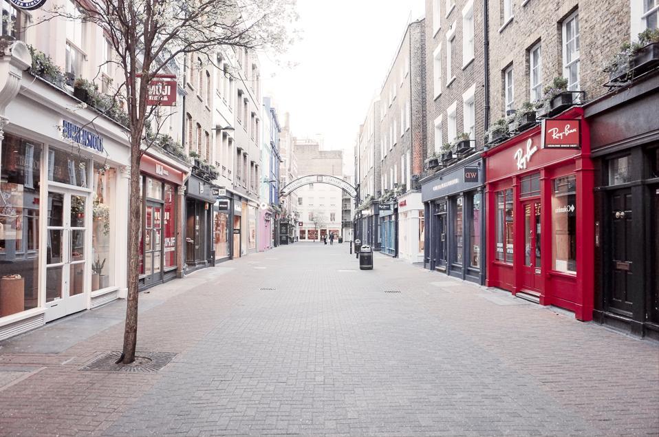 Empty Carnaby Street, London, UK