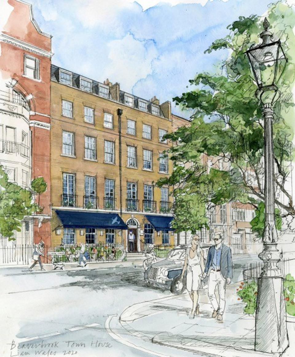 An artist impression of the forthcoming Beaverbrook Town House.