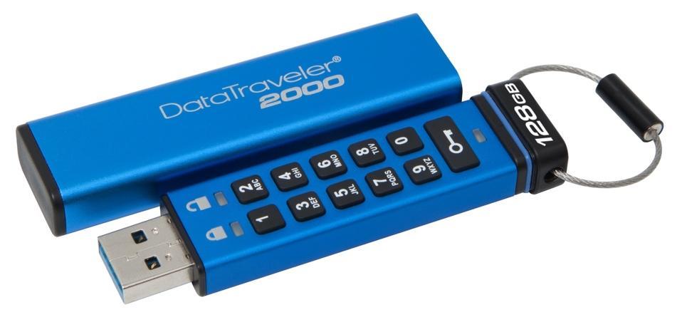 Kingston DT2000 USB drive with keypad