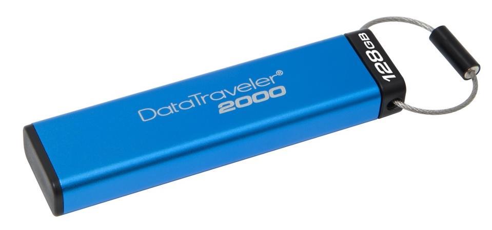 Three-quarter view of the Kingston DataTraveler DT2000