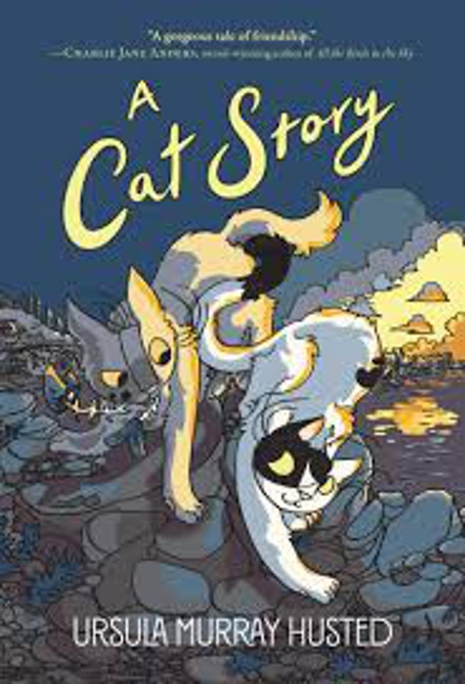 Cover of a Cat Story by Ursual Murray Husted Quill Tree Books YA teen graphic novel