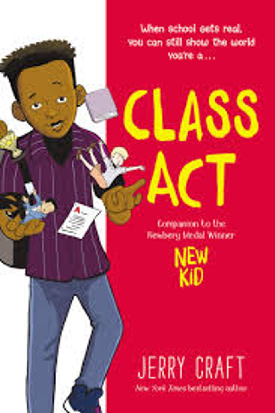Class Act by Jerry Craft cover teen YA graphic novel bestseller 2020