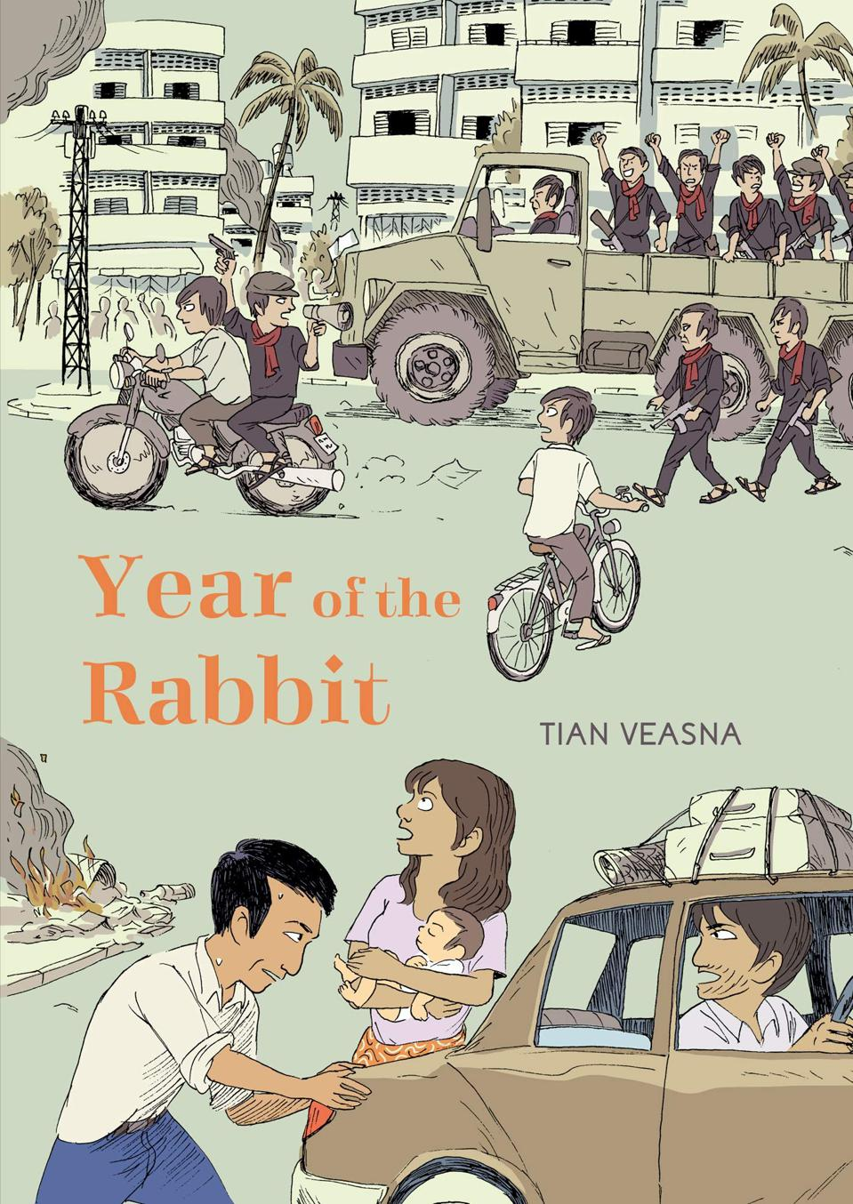 Cover of Year of the Rabbit historical graphic novel Cambodia Khmer Rouge