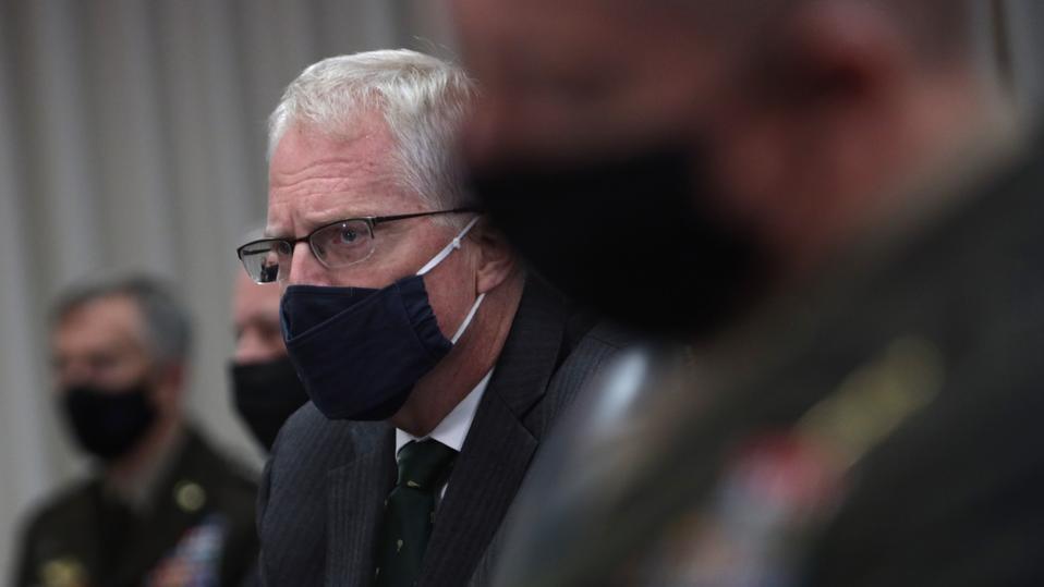 Acting Defense Secretary Chris Miller Hosts Honor Cordon With Lithuania's Defense Minister Raimundas Karoblis