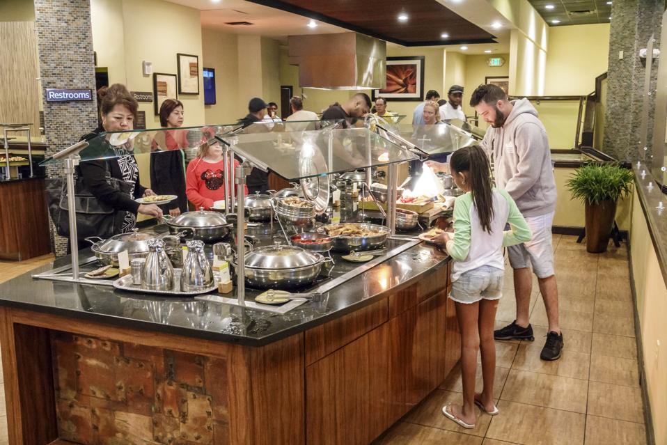 Orlando, Doubletree by Hilton Orlando SeaWorld hotel, breakfast buffet