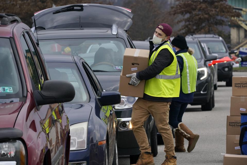 Virus outbreak Pennsylvania food bank
