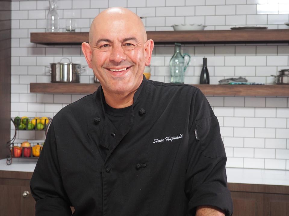 Simon Majumdar in kitchen