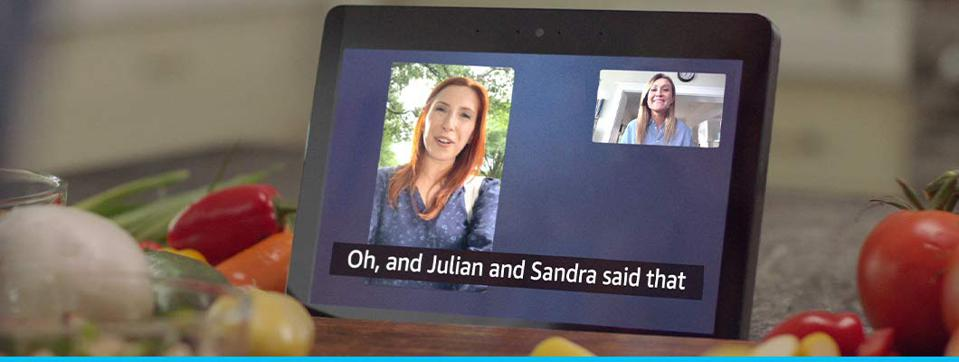 Call Captioning in use on an Echo Show