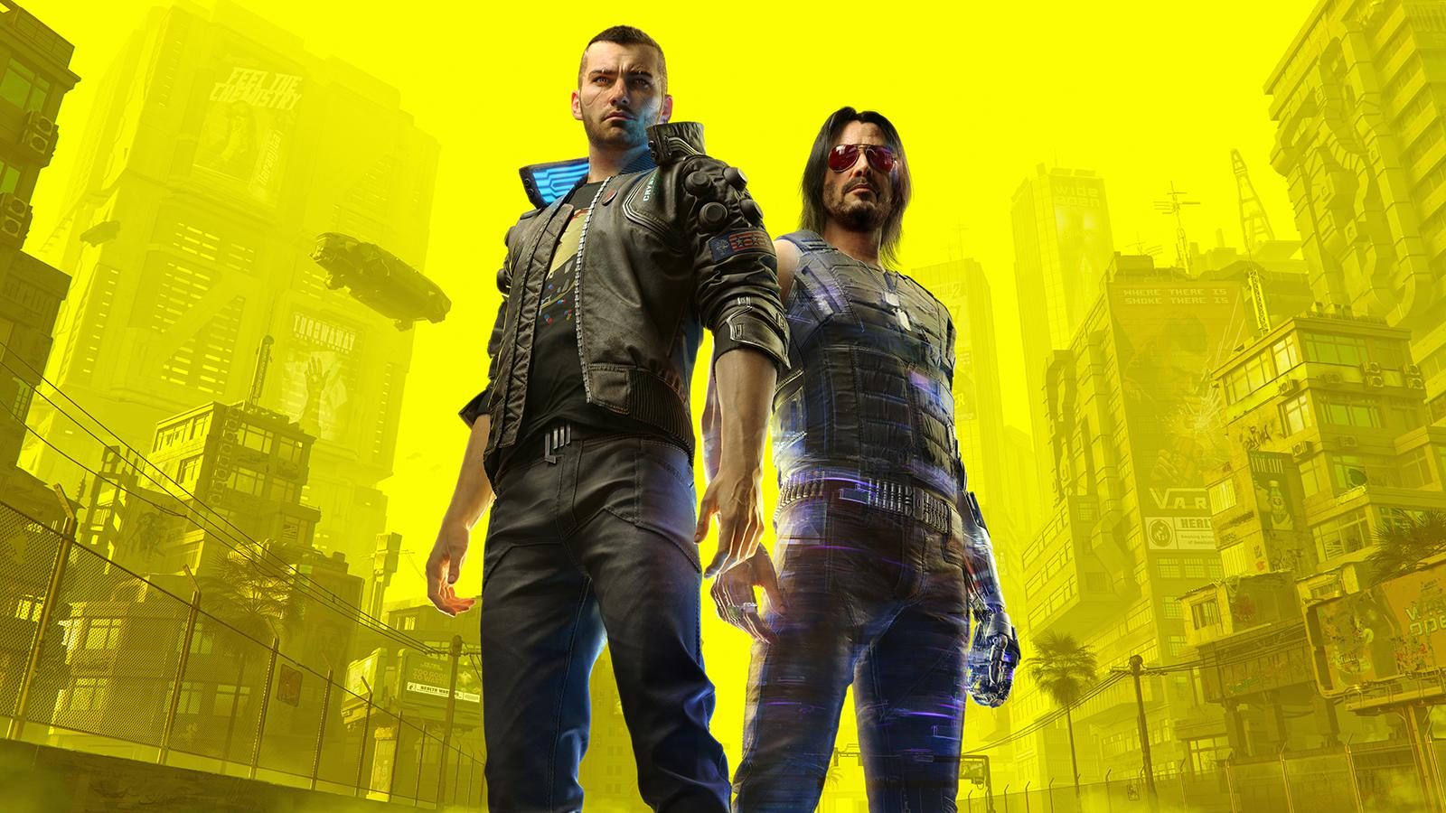 Characters Flawed: Cyberpunk 2077's V and Johnny, voiced by Keanu Reeves.