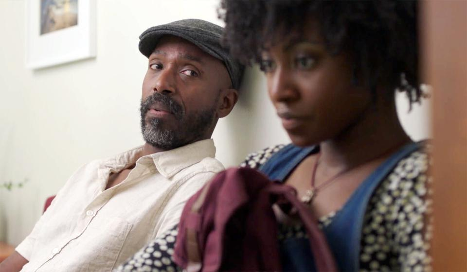 Ntare Guma Mbaho Mwine as Walter and Jayme Lawson a Sylvia in 'Farewell Amor' on MUBI