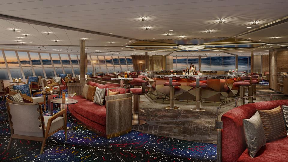 Seabourn Venture expedition ships Constellation Lounge