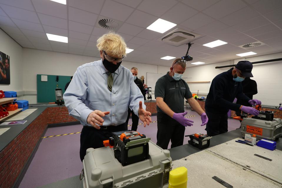 UK Prime Minister Boris Johnson visits Greater Manchester