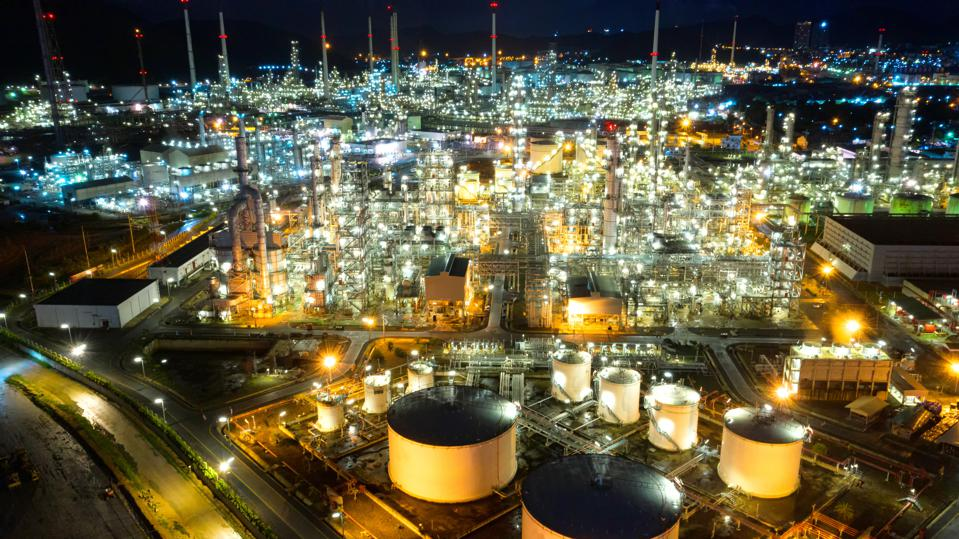 Oil refineries add another layer of unique identity to the oil