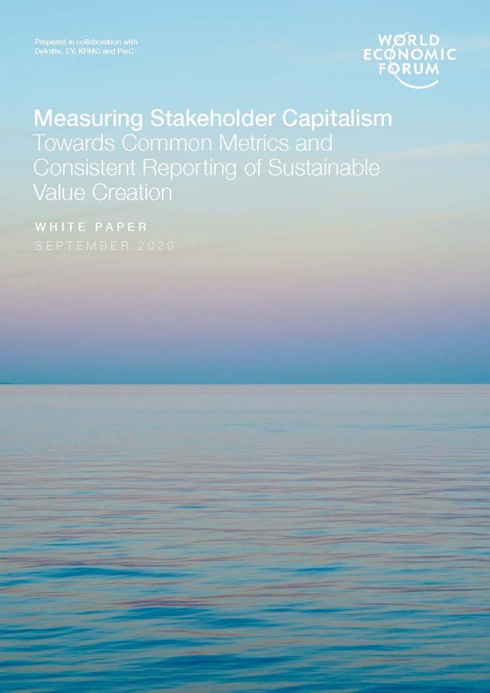 Measuring Stakeholder Capitalism White Paper