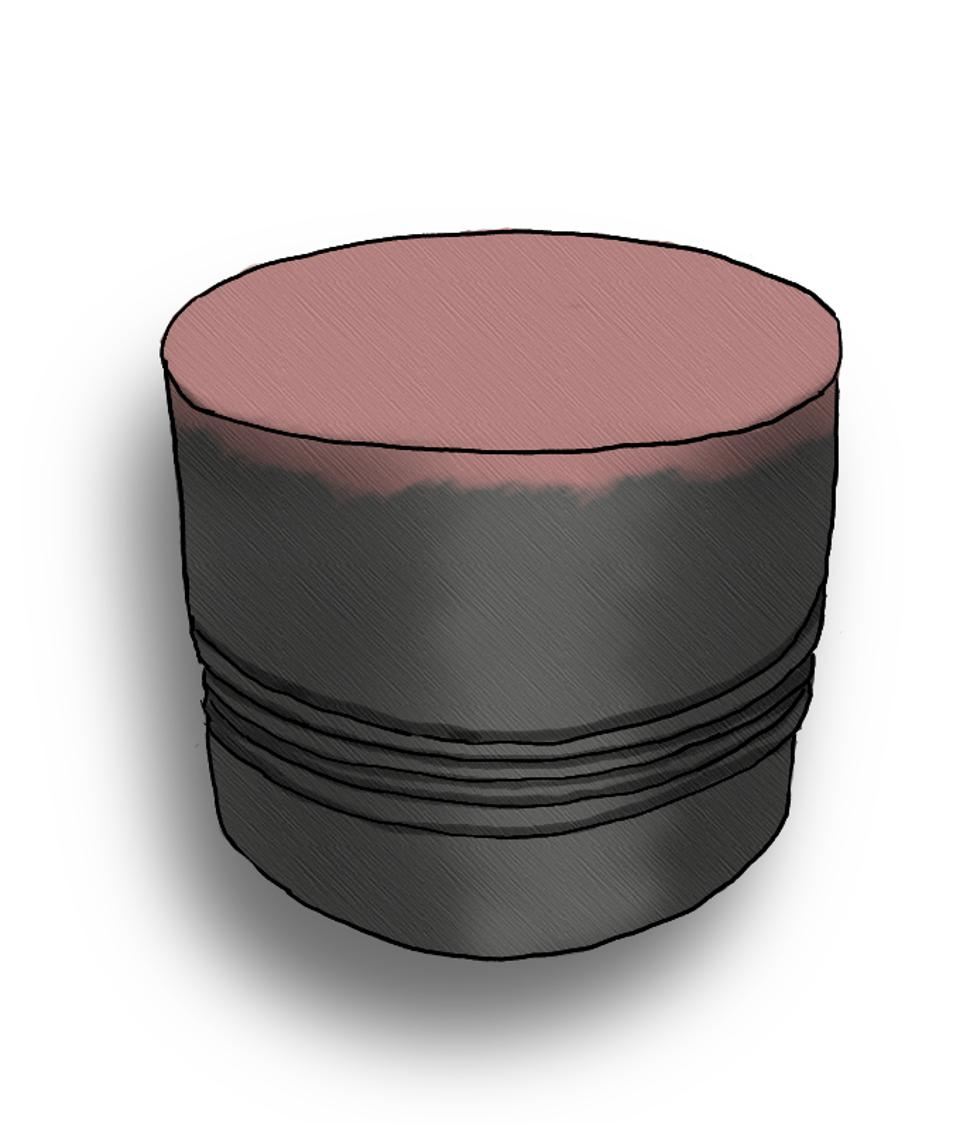 PIston heads were seen to have accelerated chemical corrosion, evidenced by a new red deposit appearing in several cases