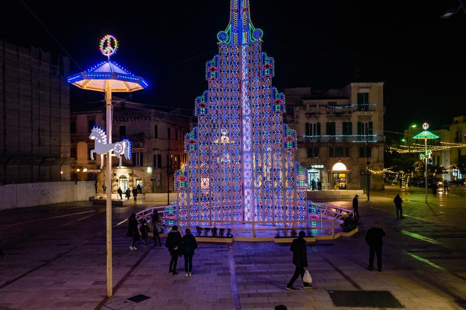 Luci Di Natale A Ruvo Di Puglia, Italia