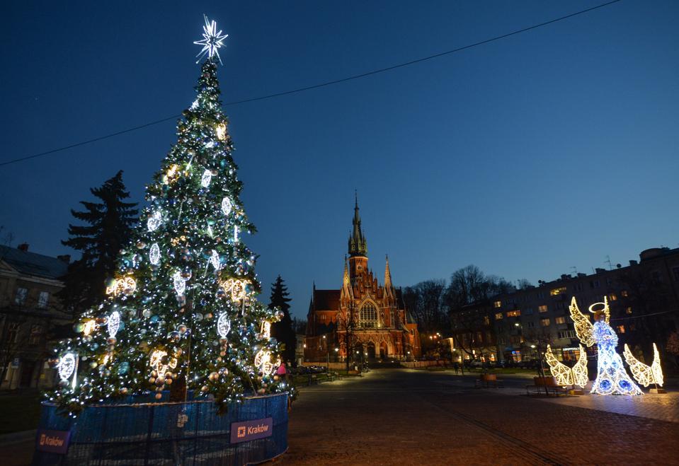 Decorazioni Natalizie A Cracovia, Polonia