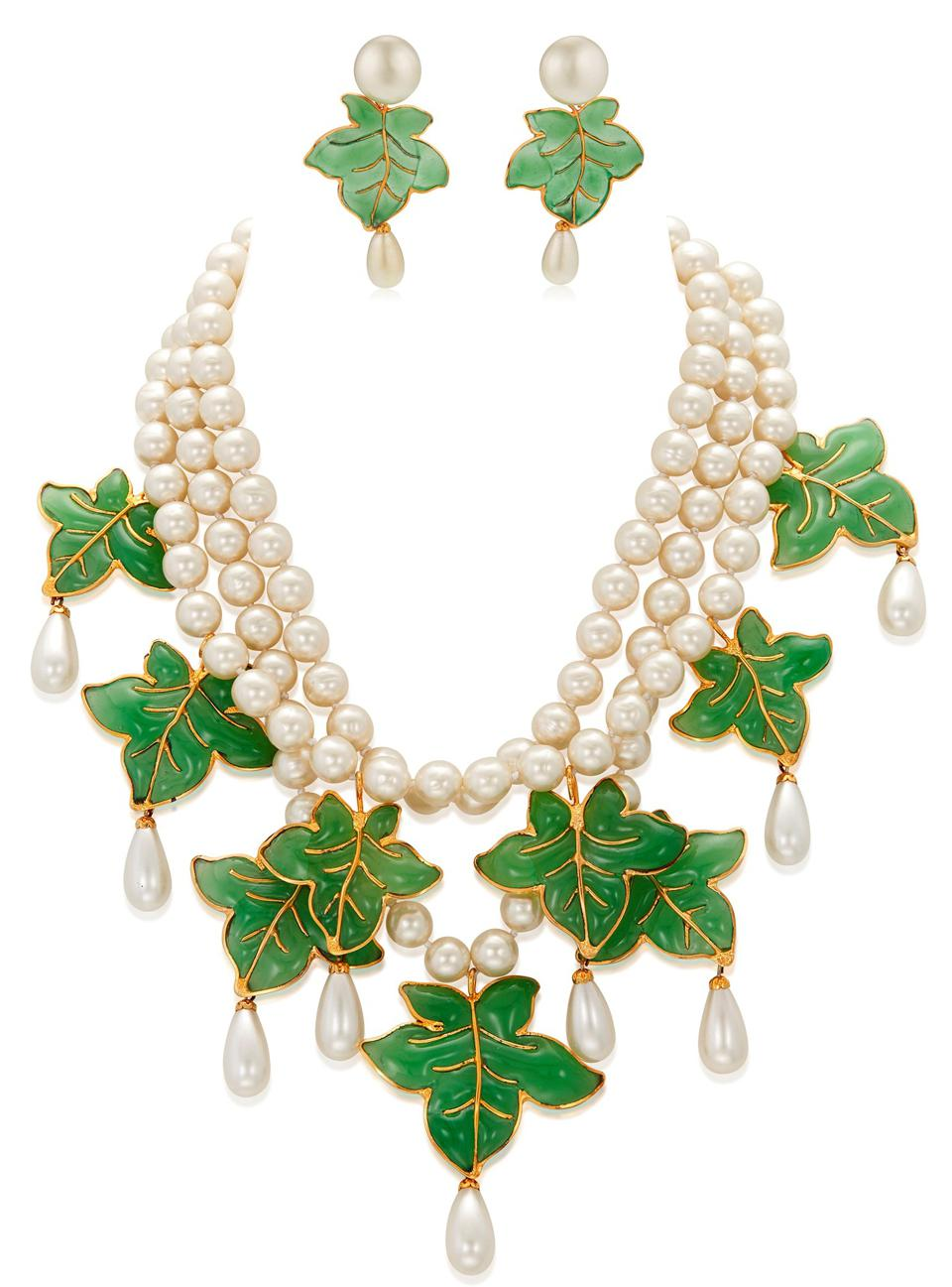 Important Chanel set of Gripoix glass and faux pearl jewelry, $4,000-6,000