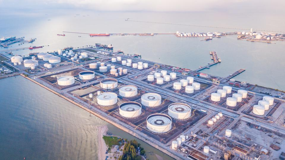 Singapore has one of the largest oil depots for plane and ship fuel in the world, as well as a large petro-chemical hub with refinery