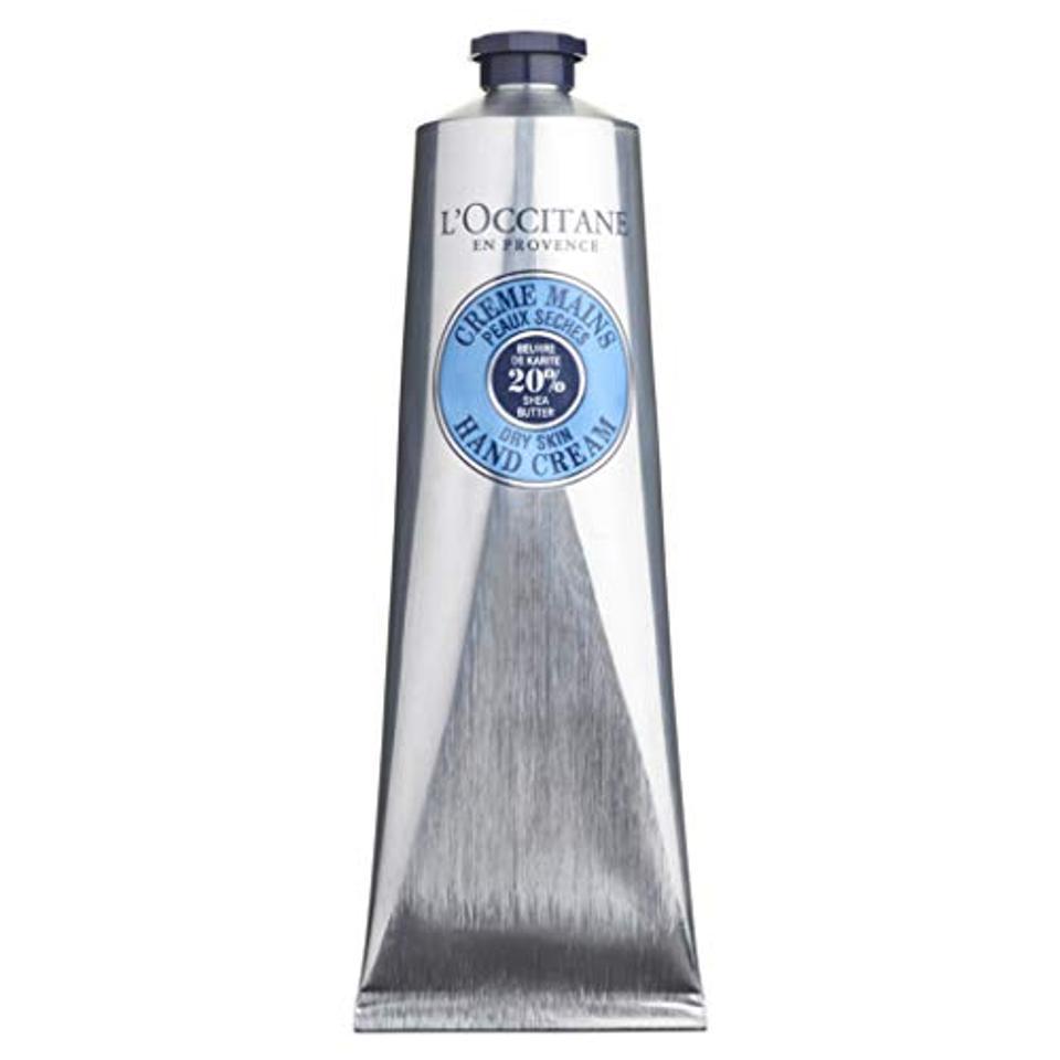 L'Occitane Shea Butter Hand Cream, 5.2 oz tube.