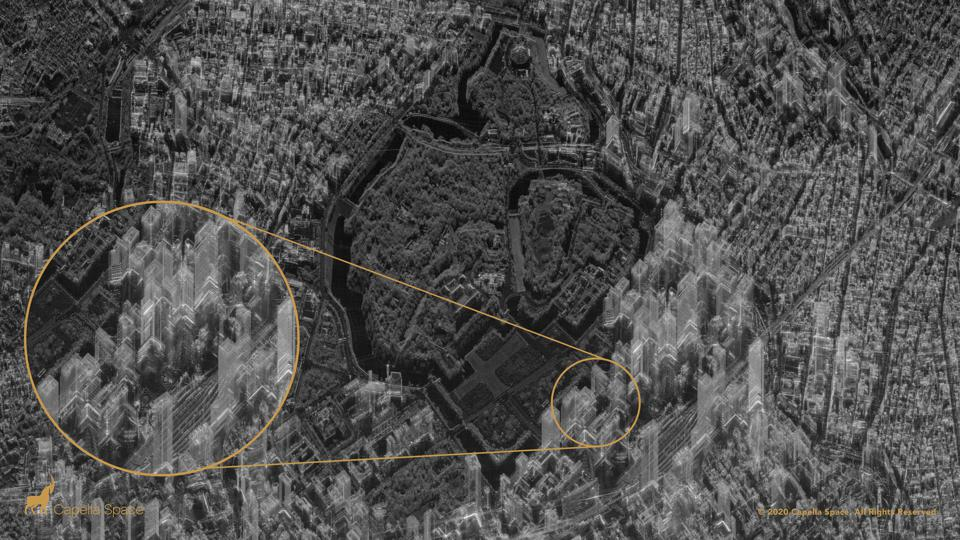 SAR image of the City of Tokyo