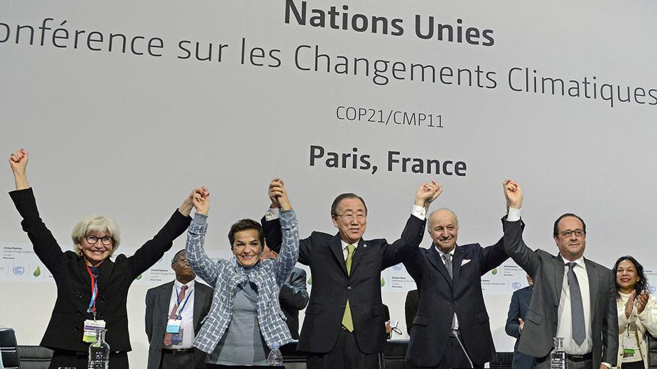 12 Dec 2015: Negotiations for a new international treaty to tackle the climate crisis was agreed in Paris.  This was called the Paris Climate Agreement.